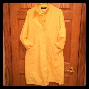 Vintage Harve Bernard yellow spring trench sz 10